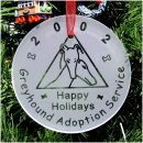 Greyhound Adoption Service Ornament